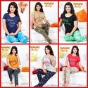Cotton Ladies Printed Night Wear, Size: M, L & Xl