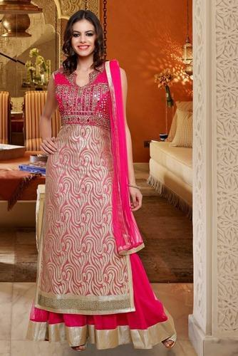 f9d0ce5a Chiffon Pink Heavy Wedding Designer Suit, Rs 5395 /piece, Adaa ...