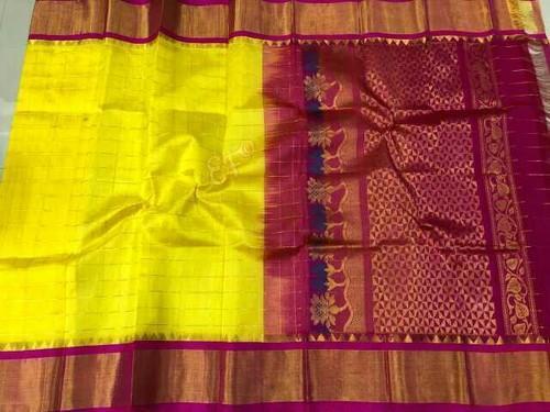 dd6050b211 Festive Wear Pure Handloom Kuppadam Pattu Saree, With Blouse Piece ...