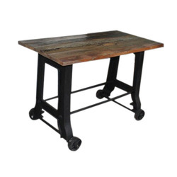 Cast Iron Console Table With Wheels