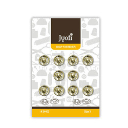 Jyoti Nickel Snap Fastener