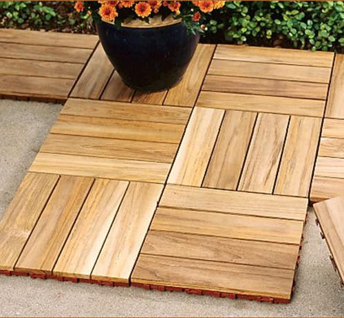 Teak Deck Tile For Flooring