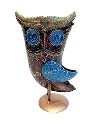 Iron Owl Vase