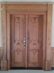 Brown Main Door Frame With Arch, Size: 37x78, Grade Of Material: Wood