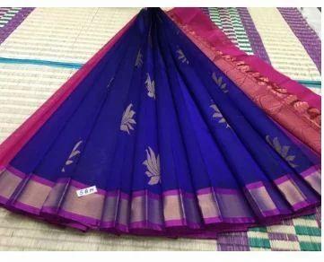 e47039a9ae Kanchi Korvai Border Handloom Silk Cotton Sarees at Rs 3900 ...