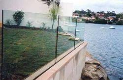 Panel Floor Stainless Glass Balcony Railing