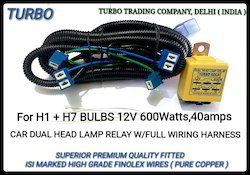 H1 H7 Head Lamp Relay Wiring Harness - Turbo Trading Company ... H Bulb Wiring Diagram on