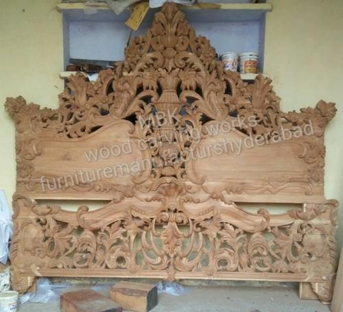 f12c73013f Normally Natural Carving Double Bed, Rs 72500 /set, MBK Wood Carving ...