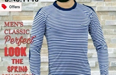 Blue Full Sleeves T Shirt