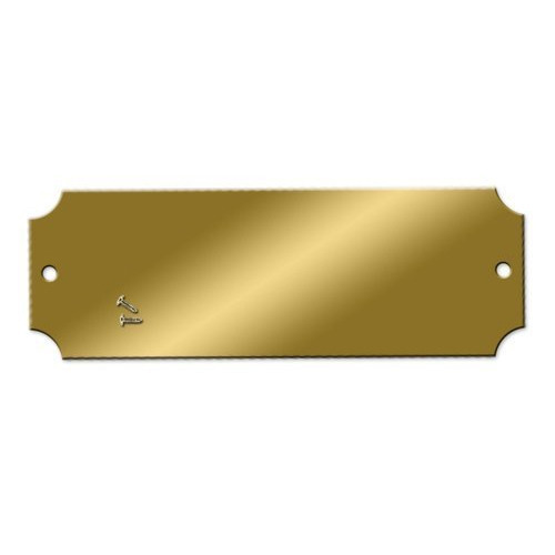 Blank Brass Name Plate Brass Nameplate Maruti Metal