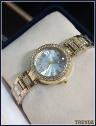 Soft Gold Metal Party Wear Watches