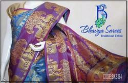 Bridal and Party Wear Silk Kanchi Pattu Sarees, With Blouse Piece