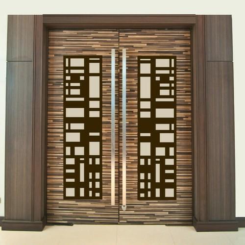 Black And Dark Brown Standard Interior Door For Home Office Size