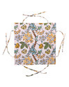 Floral Block Printed Cotton Kitchen Bread Basket