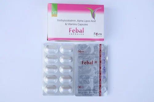 Methylocobalmin Alpha Lipoic Acid and Vitamin Capsules, Packaging Type: 10*10 Alu Alu