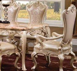 MBK Beige King Size Dining Table Set