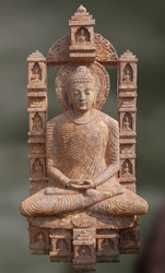 Lord Buddha-Anviksa Sandstone Sculpture