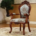 Polished Wooden Carved Chair