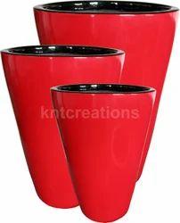 Fiberglass Glazed Planter Pot