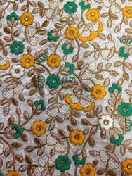 Dupion Embroidered Fabrics