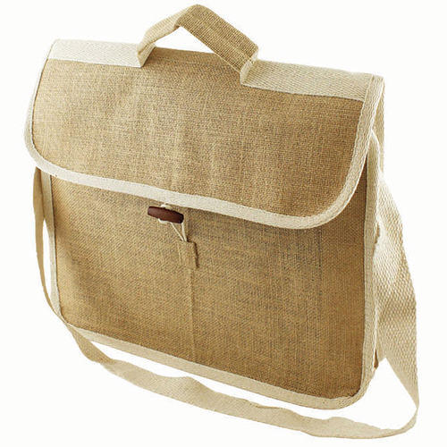 a1e846e8dc Jute Fabric Plain   Printed Conference Bag