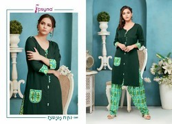 Psyna Presents Patiyala Print Vol 2 Kurti With Pants Collection