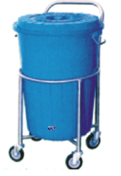 Solid Linen Trolley with Plastic Bucket