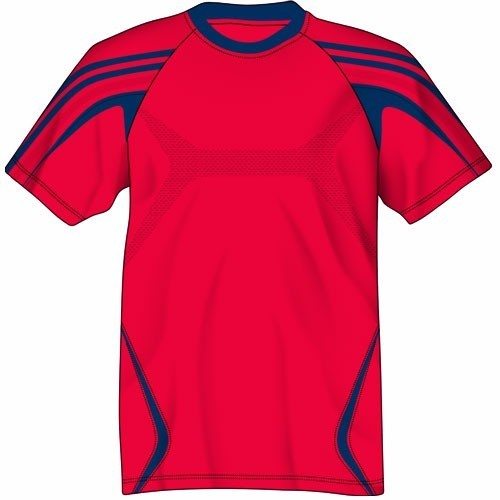 2246707802f Women Red And Blue Ladies Football Jersey