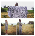 Ombre Design Bohemian Indian Mandala Round Tapestry