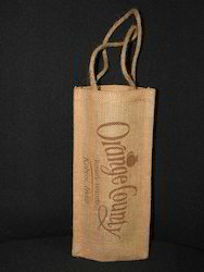Recycled Organic Canvas Wine Bottle Holder