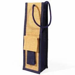 Fancy Jute Wine Bottle Bag
