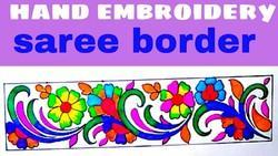 Embroidery Saree Border Design At Rs 250 Piece Embroidered Border