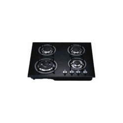 Quba Mild Steel 4 Burners Built In Glass Hob, For Hotel, Size: 550 Mm *470 Mm