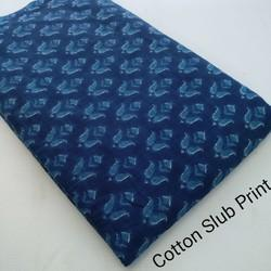 Printed Cotton Slub Fabric