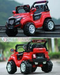 Red Black Battery Operated Jeep