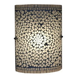 Gray Mosaic Wall Lamp
