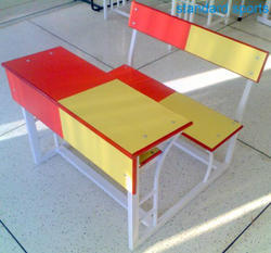 Duel Desk Red yellow double shade for kids
