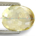 3.96 Carats Yellow Sapphire