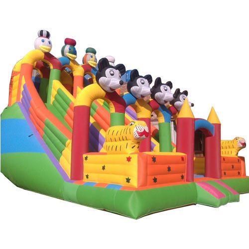 Laxmi Inflatables Multicolor Sliding Bouncy