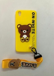 Multi Color Rabar Back Cover With Keyring