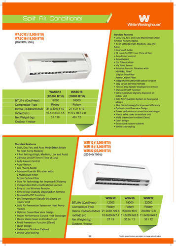 White Westinghouse Air Conditioner Conditioners Whole Trader From New Delhi