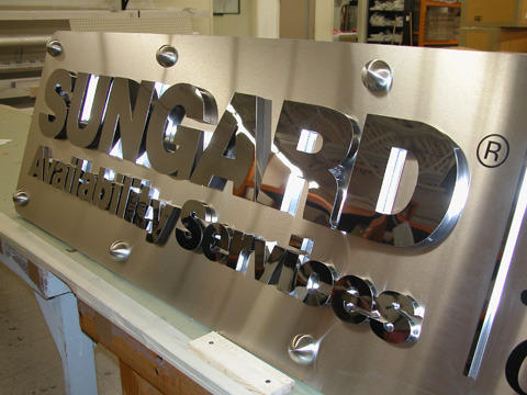 mirror polished stainless steel letter acp board