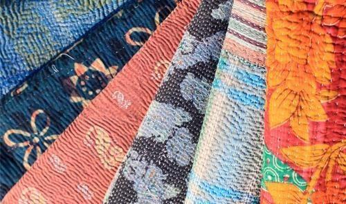 Reversible Handmade Kantha Quilt