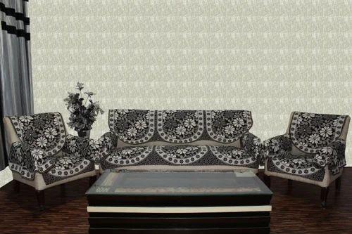 Chenille Sofa Cover Reverse Grey 1651