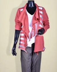 Red Sheer Stripe Jacket