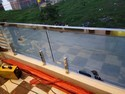 Silver Steel Glass Railing, Material Grade: 304