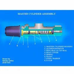 Cad Design Master Cylinder Assy