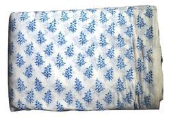 Hand Block Printed Cotton Booti Fabric