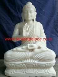 White Marble Lord Buddha Statue Moorti