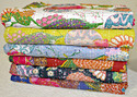 Tropicana Kantha Bed Cover